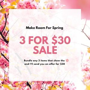 3 🌸 Items for $30